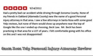 santa rosa yelp personal injury attorney review